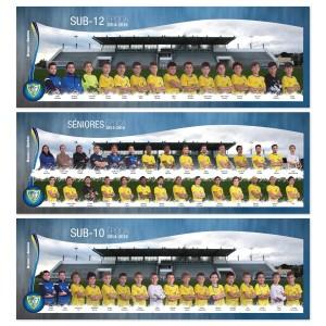 3x mega posters de equipa mangualde